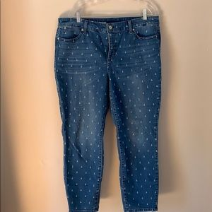 Talbots slim ankle anchor jeans